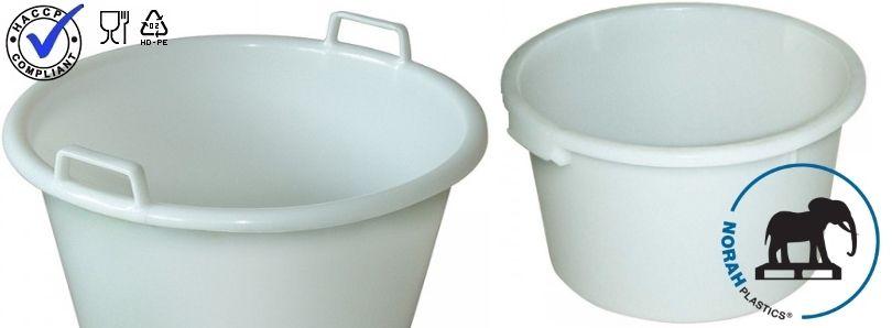 Kunststof witte kuipen voor productie en opslag