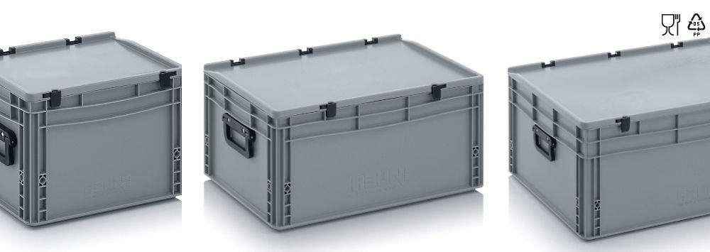 Kunststof koffers met 2 koffergrepen, korte kant