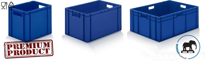 Plastic bakken in kleur blauw
