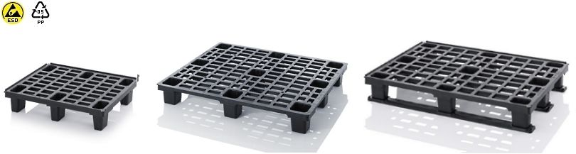 Plastic esd pallets - Light Duty