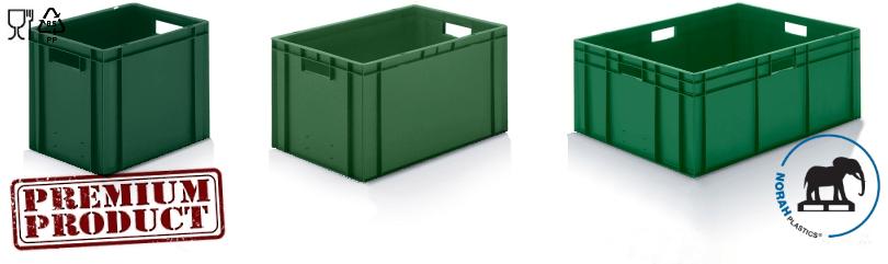 Plastic bakken in kleur groen