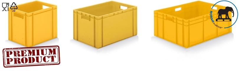 Plastic bakken in kleur geel