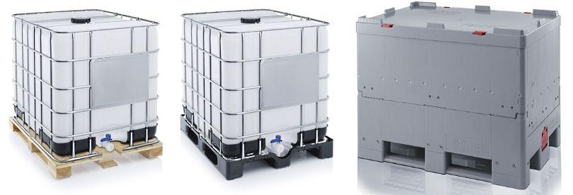 Ibc containers met houten pallet