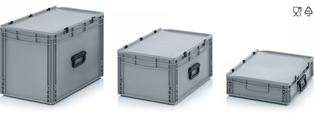 Kunststof koffers met 1 koffergreep, lange kant