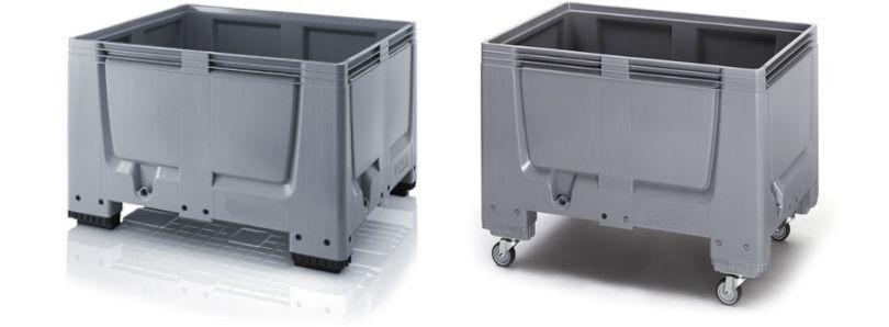 Plastic palletboxen gesloten