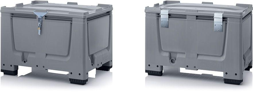 Plastic palletboxen met slotsysteem