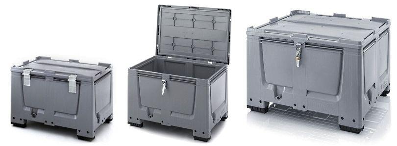 Plastic palettenboxen met slot